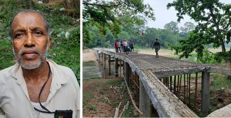 Retired employee completes bridge with own savings