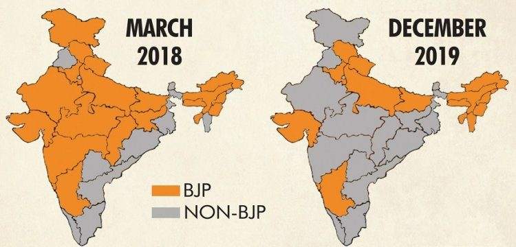Is shrinking Lotus eclipsing BJP's dream of 'Congress-mukt Bharat'?