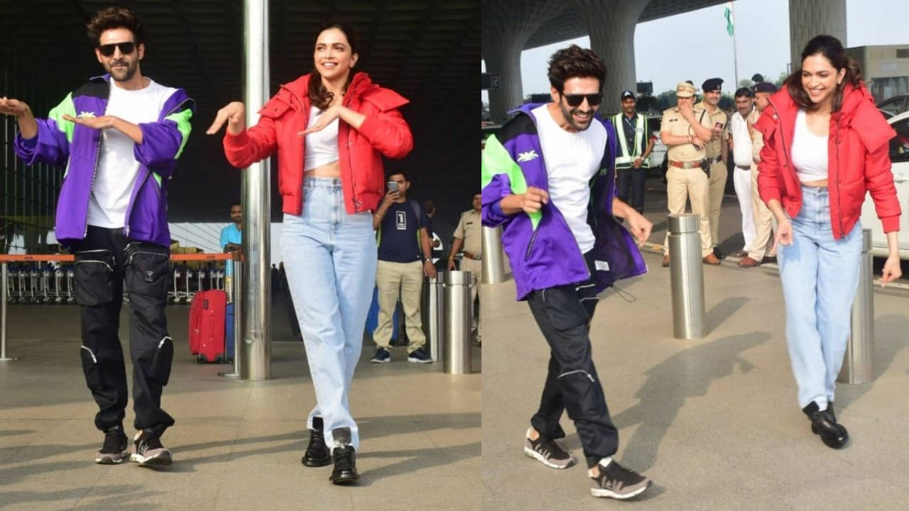 Deepika, Kartik perform 'Dheeme dheeme' challenge at airport