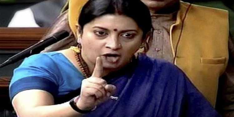 Smriti attacks Rahul, says must be punished for 'Rape in India' remark