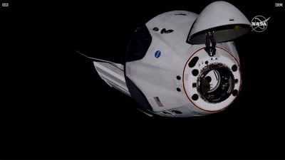 Big leap: SpaceX Crew Dragon docks with space station