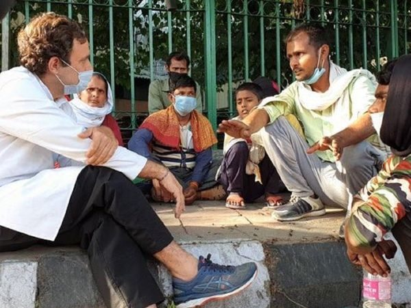 Immense suffering, say migrants to Rahul in Cong documentary