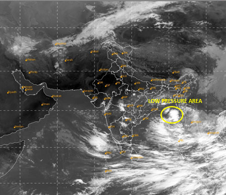 Depression brewing over Bay of Bengal