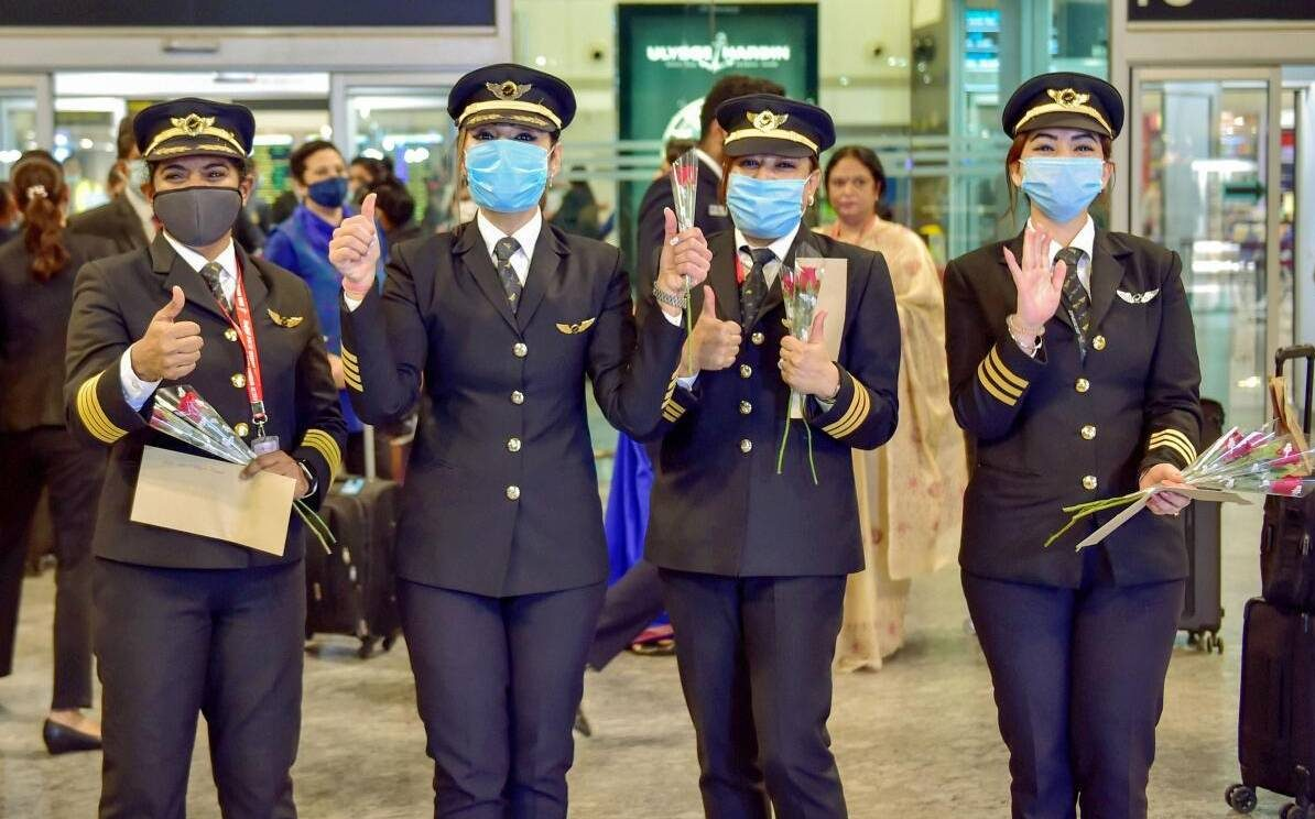 AI flight with all-woman crew lands,  Zoya says she felt on top of world