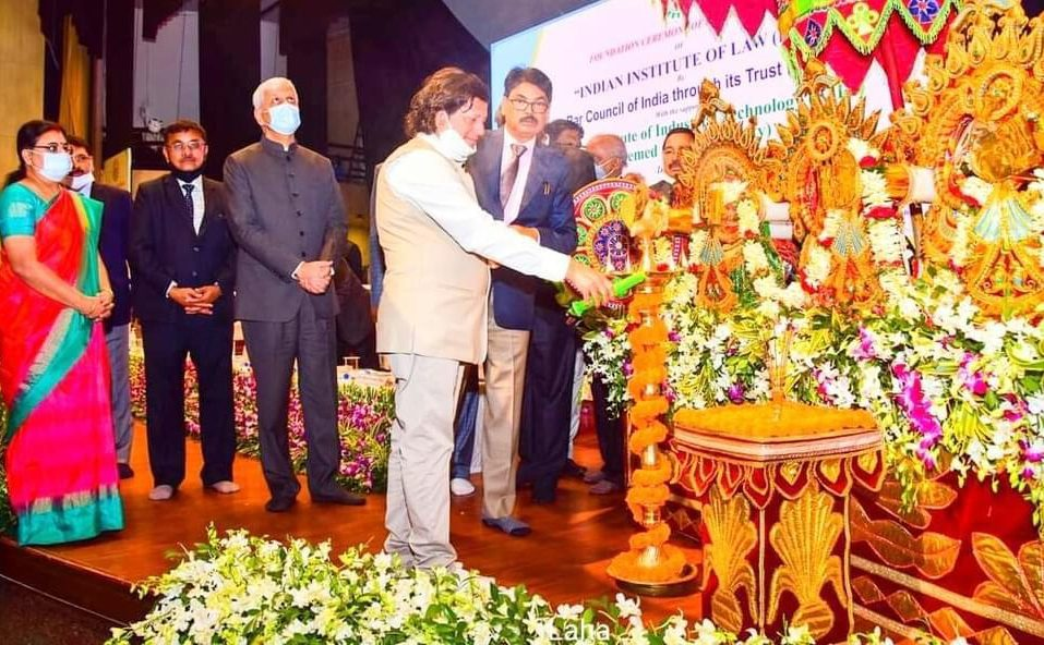 Foundation for Indian Institute of Law laid on KIIT campus