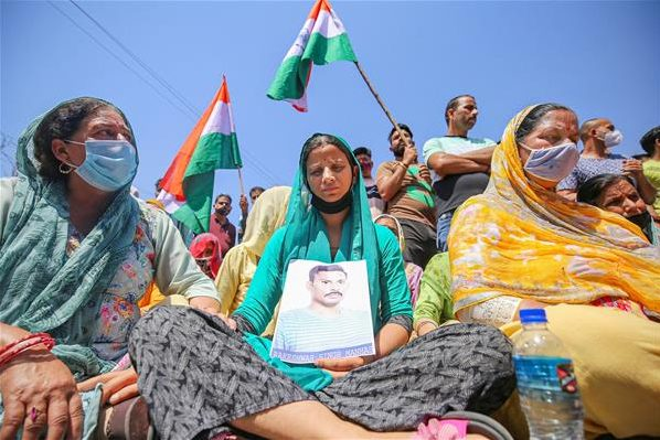 Relatives of CRPF jawan abducted by Naxals stage protest in J-K